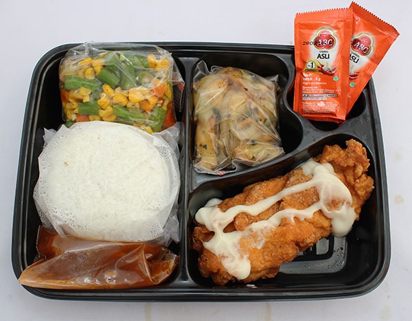Adora Catering Paket Nasi Chicken Steak Mayo