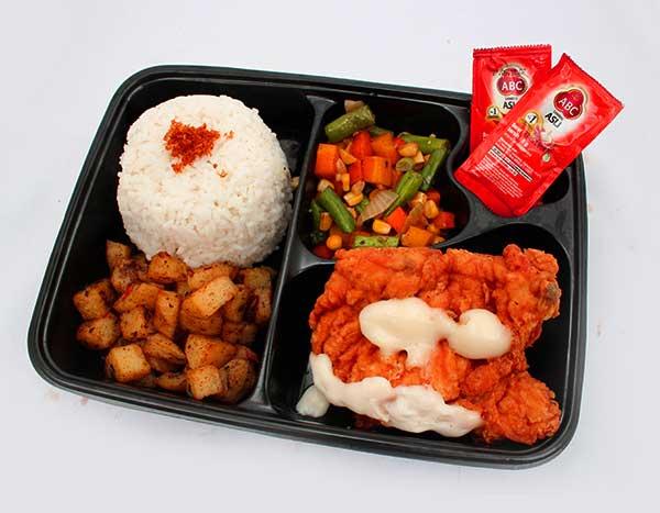 Adora Catering Paket Nasi Chicken Steak Mayo