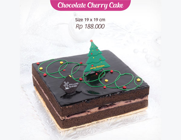 Holland Bakery Chocolate Cherry Cake