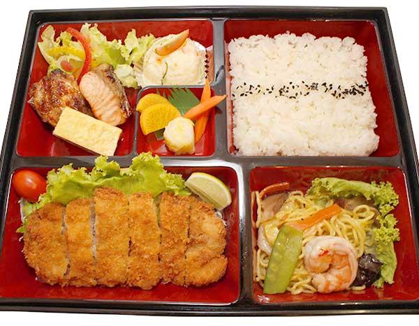 Chicken Katsu Salmon Bento