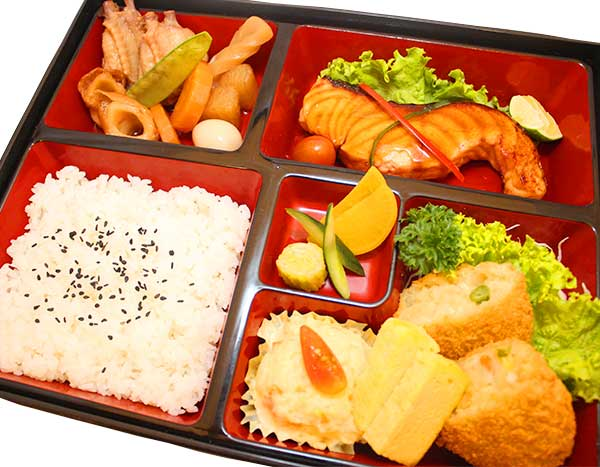 Salmon Teriyaki Croquette Bento