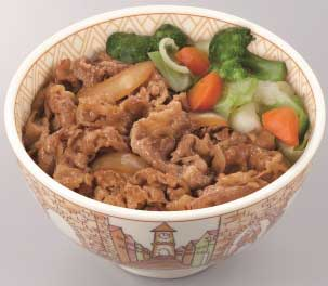 Sukiya Veggies Beef Bowl