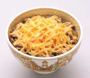 Sukiya Spicy Mayo Cheese Beef Bowl