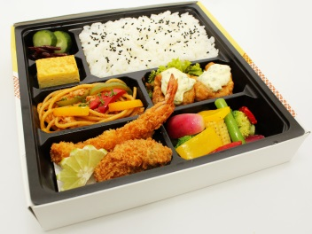 Ebi and Kaki fry Chicken Namban Bento