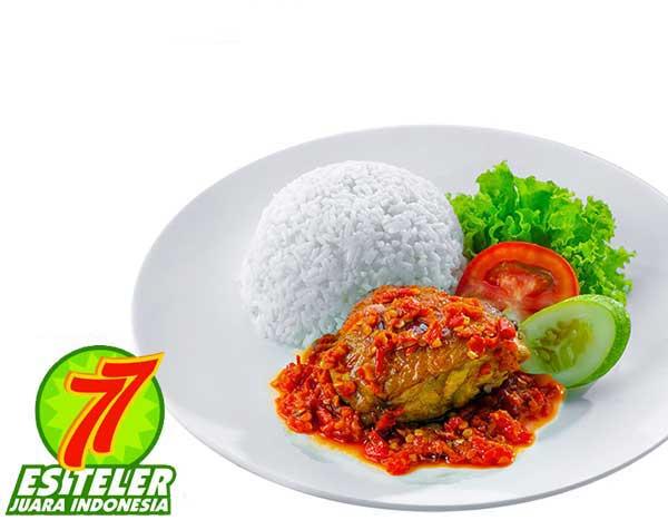 Ayam Goreng Balado + Nasi