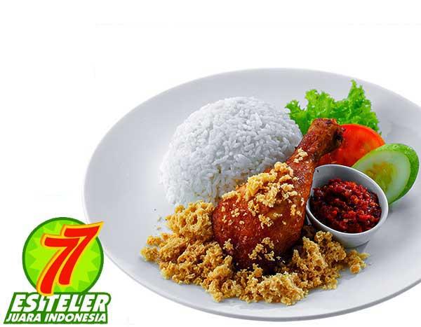 Ayam Goreng Kremes + Nasi