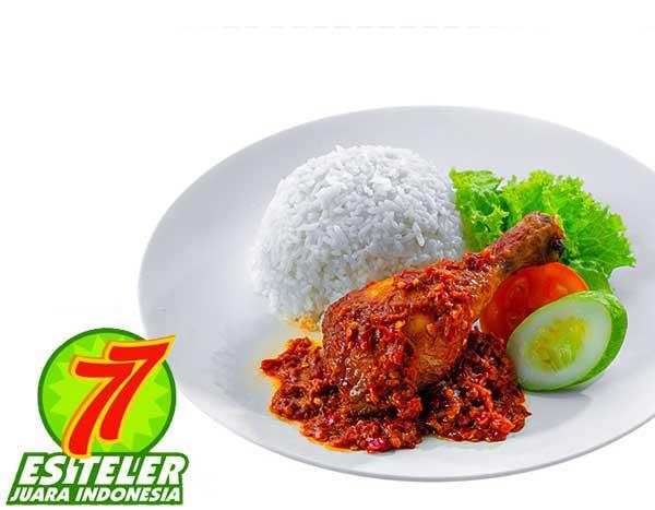 Ayam Goreng Penyet + Nasi