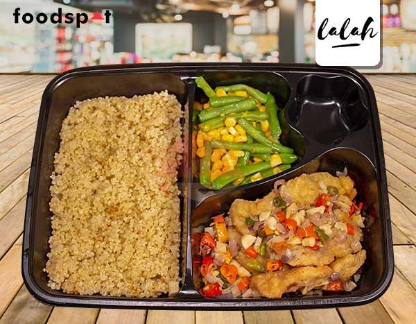 Paket Nasi Quinoa Dory Sambal Matah