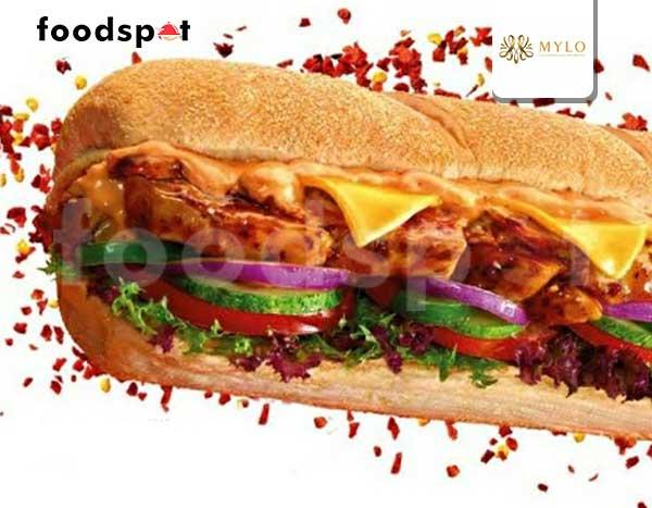 American Sandwich Red Hot Chilli Pepper Chicken