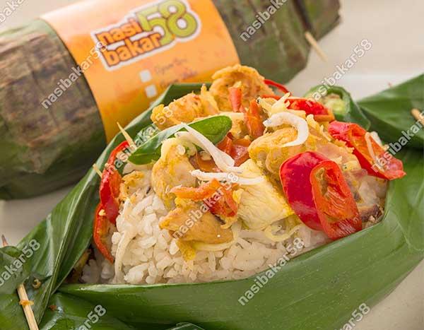 Nasi Bakar Ayam Teri