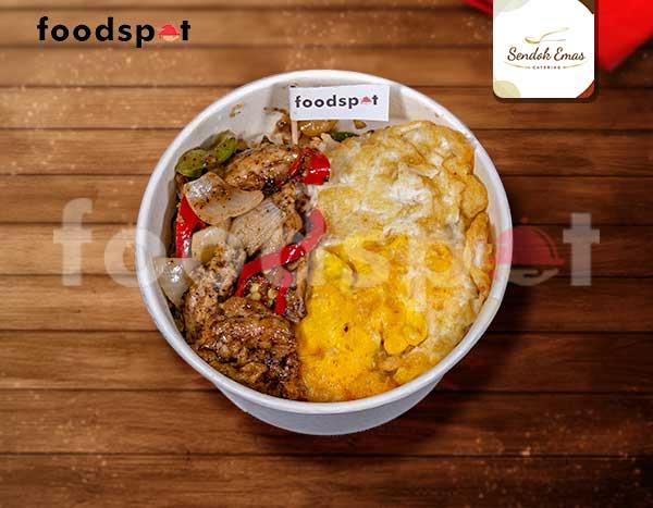 Nasi Ayam Lada Hitam