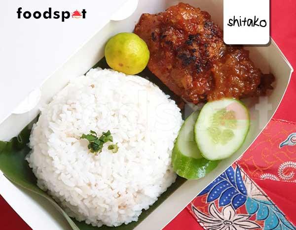 Paket Nasi Ayam Bakar Bumbu Roejak
