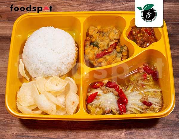 Nasi Ayam Gulung Sawi