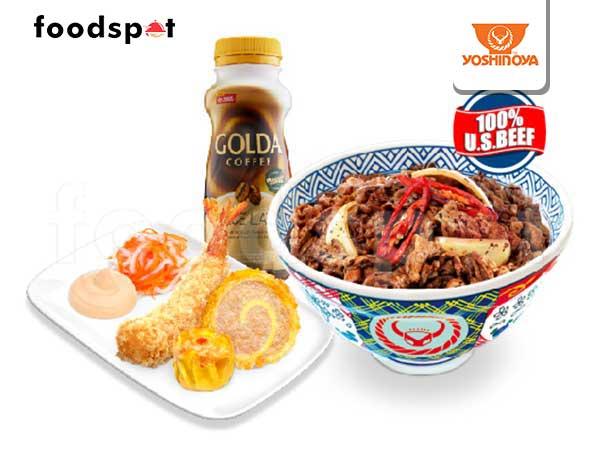 Paket Puas Udang - Black Pepper Beef Paket Puas (L)
