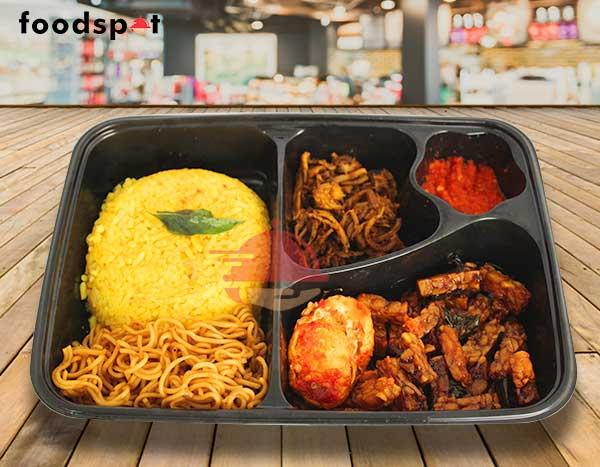 Paket Nasi Kuning Ayam Goreng Suwir dari Liwet Kitchenette - foodspot